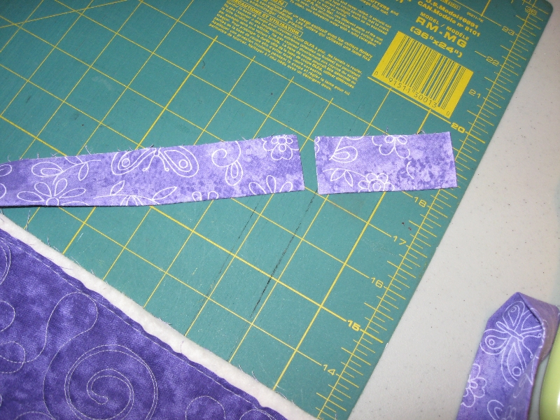 cut a scrap of binding to use for measuring
