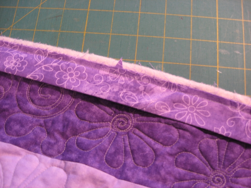 stitch binding to quilt--finished!