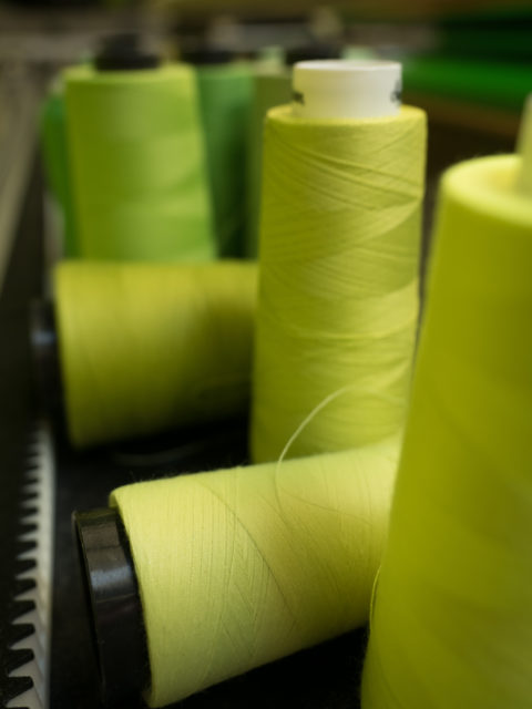 yellow-green threads